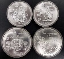 1976 Montreal Olympics 4 Silver coin lot from Canada! 1973 and 1974!