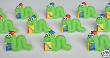 12 Graduation Green Book Worm Cup Cake Rings Decor Topper Party Bag Favor Supply