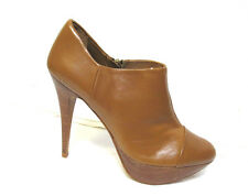 sz 7.5 / 38 ZARA WOMAN Stiletto Ankle Boots sexy all-leather shoes NWOT rp$200