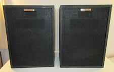 PAIR OF KLIPSCH HERESY TYPE E-2 BLACK SPEAKERS EXCELLENT CONDITION WORK PERFECT