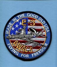 BOEING E-3 SENTRY AWACS USAF EARLY WARNING Squadron Aircraft Jacket Patch FFF