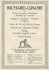 Y0856 Richard Ginori - Società di ceramica - Pubblicità 1928 - Advertising