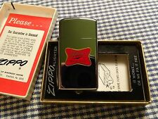 VINTAGE ZIPPO HP CHROME MILLER HIGH LIFE SLIM LIGHTER 1974