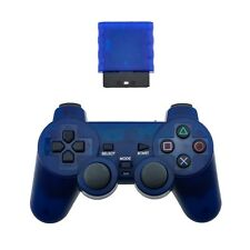 Blue Playstation 2 Generic Wireless Controller for Sony PS2 Console