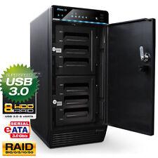 "FANTEC QB-X8US3R 8Fach GEHÄUSE 8x3,5"" SATA Festplatten - RAID - USB3.0 - eSATA"