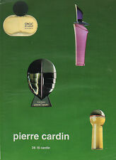 Publicité Advertising 1993 Parfum  PIERRE CARDIN choc enigme rose ...