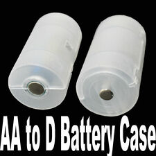 4X AA to D Size Cell Battery Case Holder Box Converter Switcher Adapter Adaptor