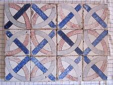 composizione 12 riggiole mattonelle fantasia maioliche antiche 19x19 rustiche145