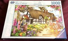 Rose Cottage 1000 pc Jigsaw Puzzle NEW SEALED Thatched/Birds/Flowers/Butterflies
