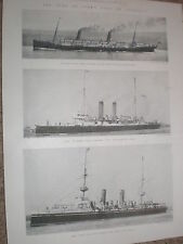 Printed photos Orient Line SS Ophir HMS St George and HMS Juno 1900