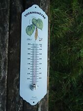 THERMOMETRE JARDIN MAISON EMAILLE Tilleul EMAIL 800°C NEUF FABR. EN FRANCE PROMO