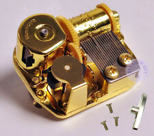 "Play ""Twinkle,Twinkle Little Star"" Golden Plated Sankyo Musical Movement for DIY"