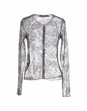 BNWT Beautiful Designer Love MOSCHINO Ladies Gray Lace Cardigan Sweater  4 ITALY