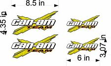 CAN-AM Logo Decal TEAM X 4pk yellow vinyl sticker graphic
