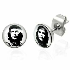 Urban Male Pair Of Che Guevara Stud Earrings In Stainless Steel