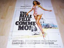 francois truffaut UNE BELLE FILLE COMME MOI ! b lafont  affiche cinema 1972