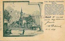 AUSTRIA - Wien - Fritz Kuranda's Viennensia Karten - Wahringer Linie 1899