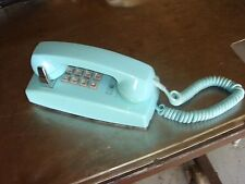 Vintage Princess Touchtone Phone Aqua Blue Push Button Western Electric Bell