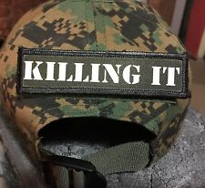 """1x4"""" Klilling IT Morale Patch Tactical Military Army Badge Hook Flag"""