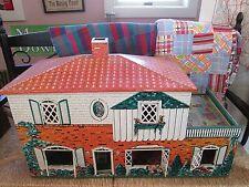 Vintage MARX Toys Litho Tin Metal Doll House