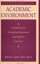 Academic Environment: A Handbook For Evaluating Employment Opportunities In Scie