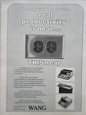 1972 PUB WANG LABORATORIES PROGRAMMABLE CALCULATOR AUTOMATIC TYPING SYSTEM AD