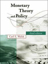 NEW - Monetary Theory and Policy (MIT Press) by Carl E. Walsh