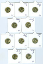 BRD  10 Cent 2002 - 2014 ADFGJ PP komplett  65 Münzen!