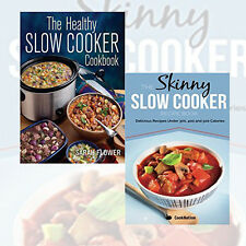 Sarah Flower & Cooknation  2 Books Collection Set (The Skinny Slow Cooker Recipe