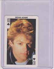 VERY RARE 1986 DANDY ROCK'N BUBBLE ~ BRYAN ADAMS ~ PLAYING CARD ~ SUMMER OF 69