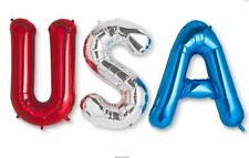 NEW USA Jumbo Party Balloon Banner Kit - Red Silver Blue - Cheer for TEAM USA!