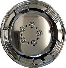 "Cosmos Wheel Trims ABS Lacqured 15"" inch Deep Dish Hub Cap SUPREMO CHROME"