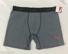 Puma MENS Athletic Boxer Brief Gray Black Size L