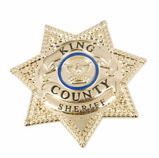 The Walking Dead King Country Sheriff Prop Metal Badge Pin Insignia - US070