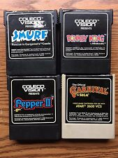 4 DIFFERENT COLECO VISION SMURF,DONKEY KONG,PEPPER 2,CARNIVAL GAME ITEM #1643-20
