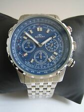 ROTARY MENS AQUASPEED WATCH GB00145/05 BLUE DIAL STAINLESS STEEL GENUINE