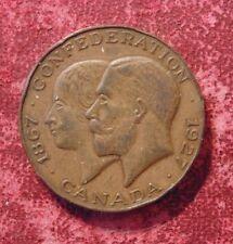 1867 1927 CANADA Confederation Diamond Jubilee copper comemmorative coin