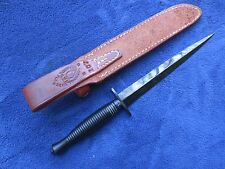 BRITISH FAIRBAIRN SYKES KNIFE COMMANDO DAGGER AND ORIGINAL RANDALL B C SHEATH
