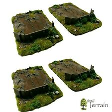 Wargames Terrain 28mm Resin Artillery Scenic Base x 4  - Bolt Action UNPAINTED