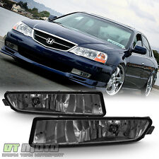 Smoked 02-03 Acura TL Bumper Driving Replacement Fog Lights w/Bulbs Left+Right