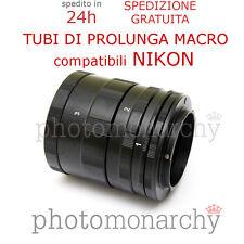 Set TUBI PROLUNGA MACRO per NIKON - kit extension tube tubo macro NIKON