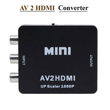 Mini AV to HDMI HD 1080P Vedio Converter AV2HDMI Adapter RCA CVBS USB Composite