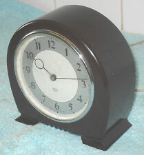 ART DECO 1930s VERY STYLISH SMITH SECTRIC (electric)  BAKELITE MANTEL CLOCK
