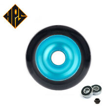 2X PRO STUNT SCOOTER BLUE SOLID METAL CORE WHEELS 100mm 88A ABEC 9 BEARINGS