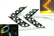 2x Amber SMD LED Arrow Panel Car Rear View Side Mirror Turn Signal Blinker Light