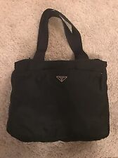 Prada Black Nylon Shopping Tote Bag