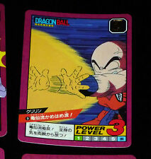 DRAGON BALL Z DBZ SUPER BATTLE POWER LEVEL PART 1 CARD CARTE 9 JAPAN 1991 NM