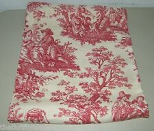 Waverly Vintage COuntry Life TOile Fabric Red 1 1/4 Yards Cotton 17054