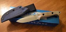 BENCHMADE New Tan Sibert Design Bushcrafter Plain Edge S30V Blade Knife/Knives