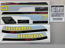 ATC 70 1980 tanque cuadro Fender calcomanías Kit Stickers Kit Honda Trike